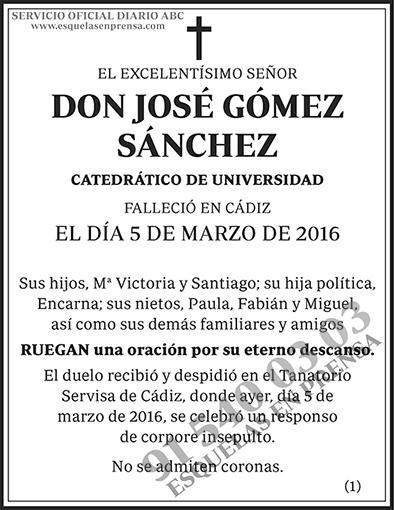 José Gómez Sánchez